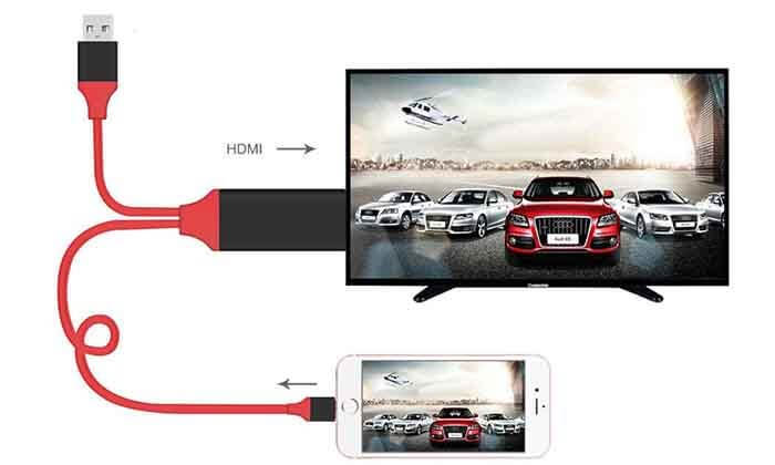 2 מתאם HDMI המחבר בין הסמארטפון לטלוויזיה - משלוח חינם