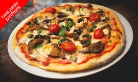 פיצה זוגית במסעדת חוף ממן