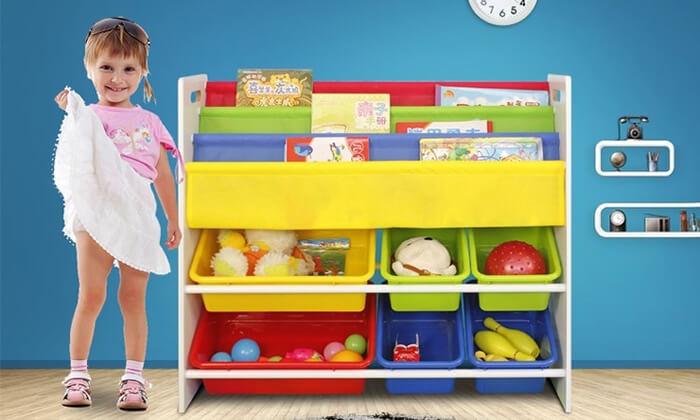 4 ארגונית צעצועים וספרים לילדים
