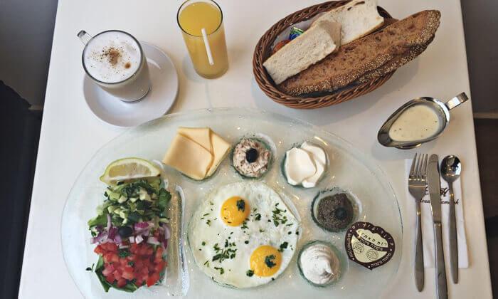 2 ארוחת בוקר 1+1, מסעדת לה מולין דורי הכשרה בירושלים