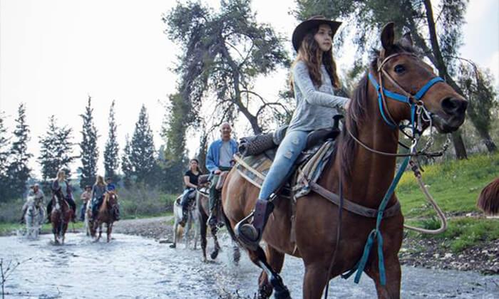 2 טיול רכיבת סוסים באזור רמות מנשה