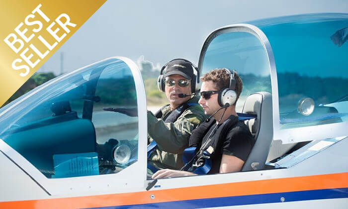 3 הטסת מטוס בליווי מדריך עם iFly, ראשון לציון