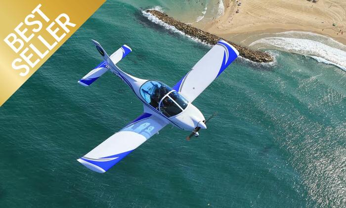 2 הטסת מטוס בליווי מדריך עם iFly, ראשון לציון