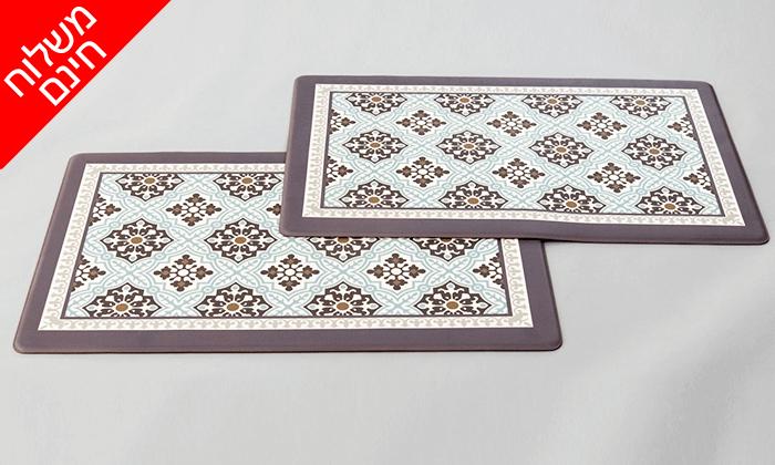 2 זוג שטיחוני PVC מעוצבים - משלוח חינם!