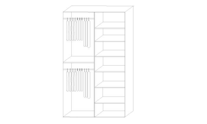 3 ארון 2 דלתות הזזה Riviera עם טריקה שקטה - מידות וצבעים לבחירה