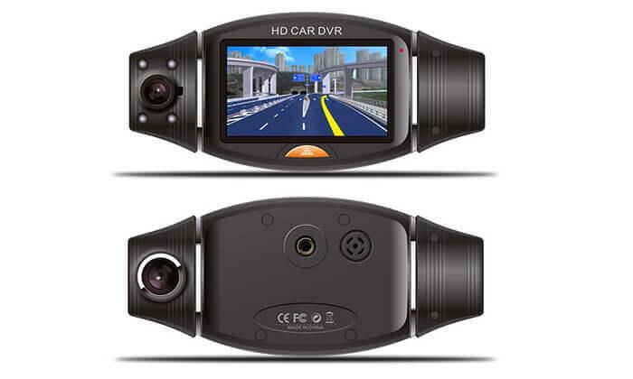 4 מצלמת דרך דו-כיוונית עם GPS