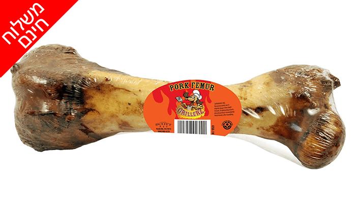 2 עצמות חזיר מעושנות לכלב - משלוח חינם!