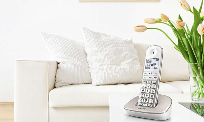 3 טלפון אלחוטי Philips מותאם לכבדי שמיעה