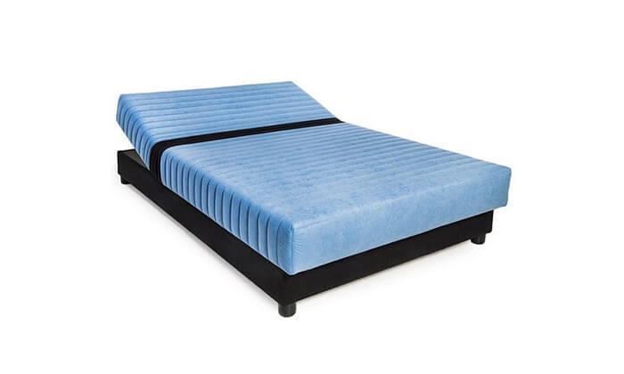 2 מיטת יחיד אורתופדית עם ראש מתכוונן ושכבת ויסקו