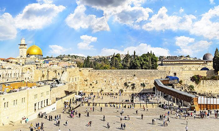 2 שובר לסיור מרתק בירושלים כולל נסיעה ברכבת הכותל