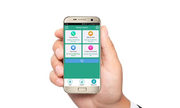 4 מערכת אזעקה אלחוטית WiFi כולל גיבוי SIM-Card