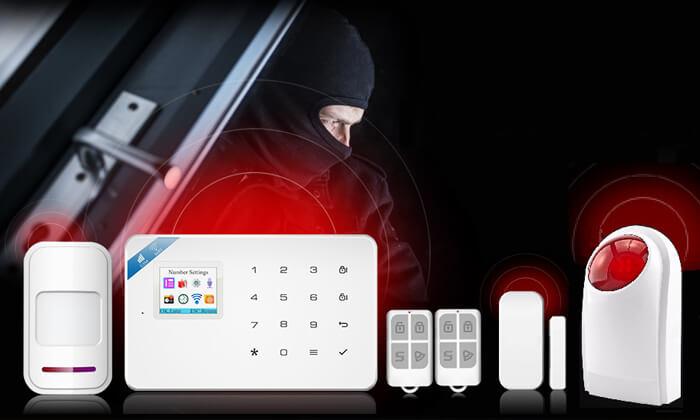 2 מערכת אזעקה אלחוטית WiFi כולל גיבוי SIM-Card