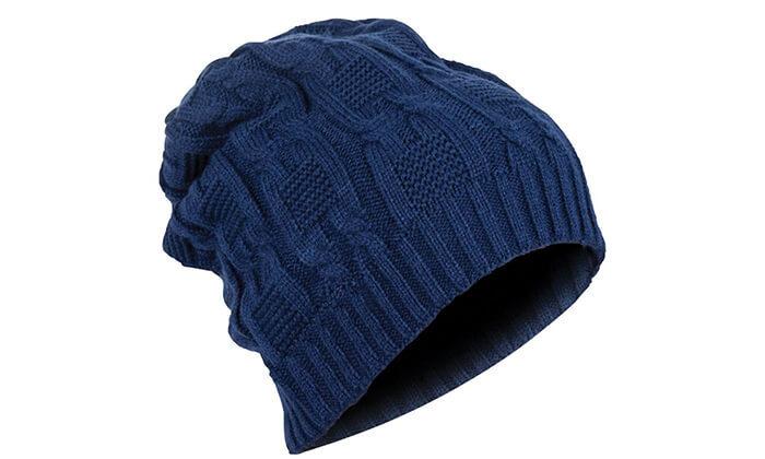 2 כובע צמר עם אוזניות ומיקרופון מובנים