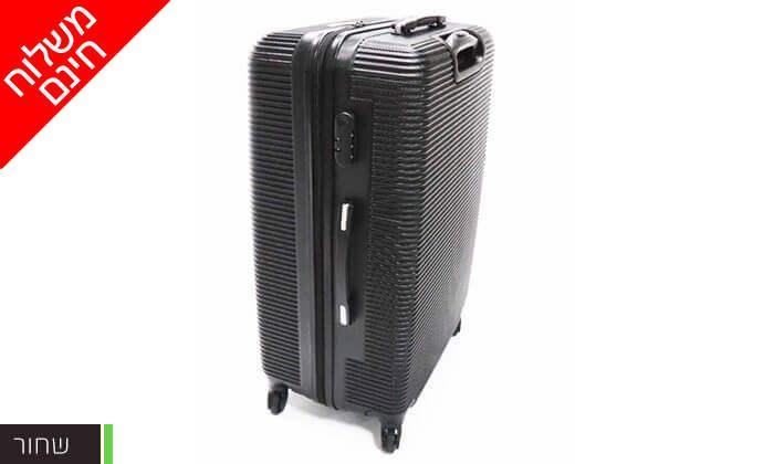 6 סט 3 מזוודות טרולי קשיחות וקלות משקל - משלוח חינם!