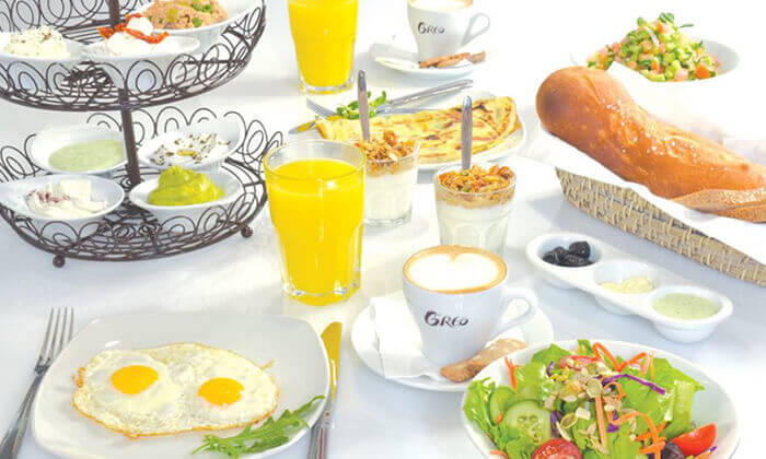 2 ארוחת בוקר זוגית בקפה גרג, הוד השרון