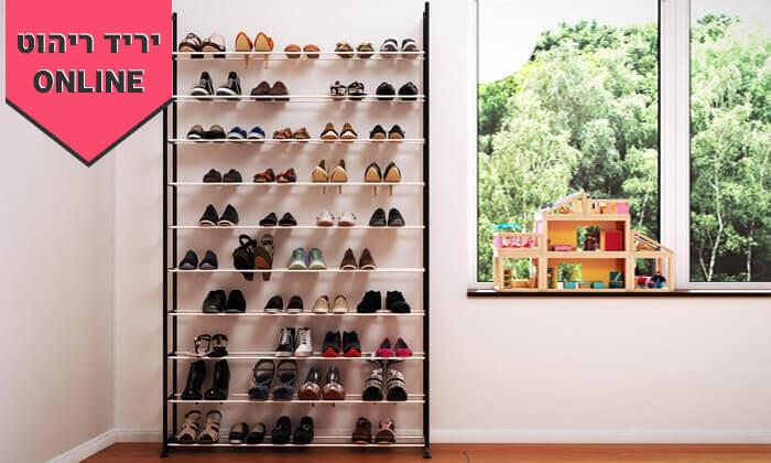 4 ארון נעליים עם 10 מדפים לאחסון עד 50 זוגות