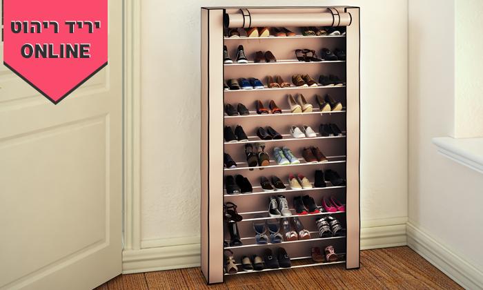 2 ארון נעליים עם 10 מדפים לאחסון עד 50 זוגות