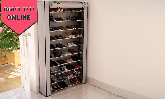 3 ארון נעליים עם 10 מדפים לאחסון עד 50 זוגות