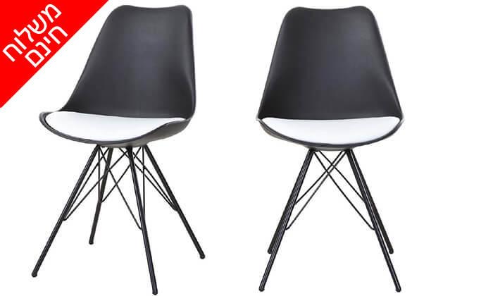 2 זוג כסאות למטבח ולפינת אוכל - משלוח חינם!