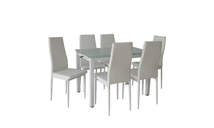 3 פינת אוכל עם 6 כסאות