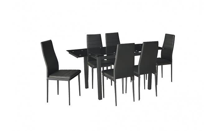 2 פינת אוכל עם 6 כסאות