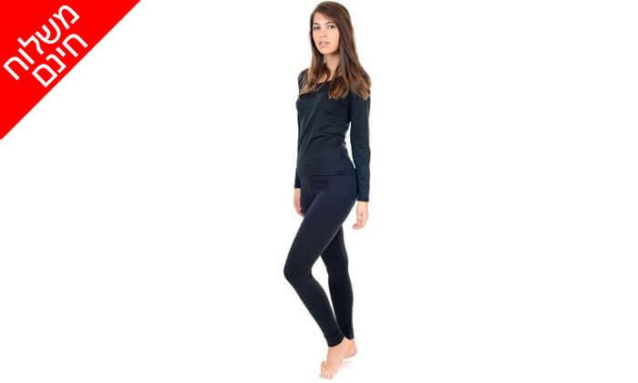 12 שתי חולצות וזוג מכנסיים אחד תרמיים מסוג מיקרו פליז לגבר ולאישה - משלוח חינם!