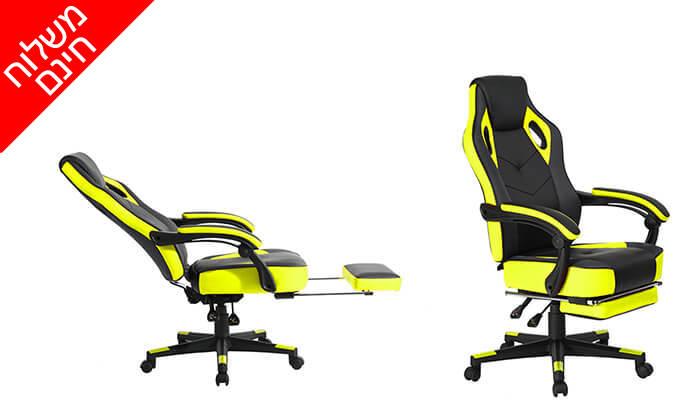3 כסא גיימרים מתכוונן עם הדום נשלף - משלוח חינם!