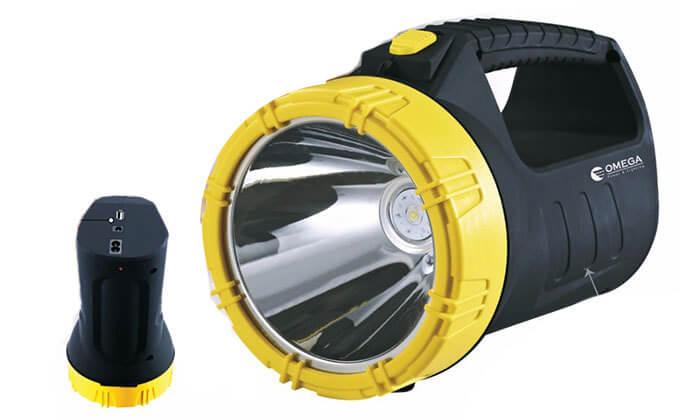 2 פנס נטען LED כולל סוללת גיבוי