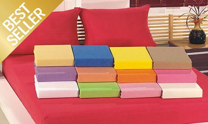 9 סט מצעי טריקו ג'רסי 100% כותנה - צבעים לבחירה
