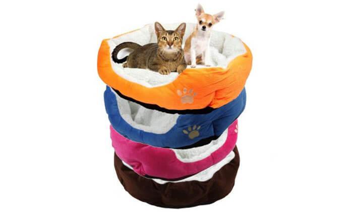 2 מיטת פליז לכלב או לחתול