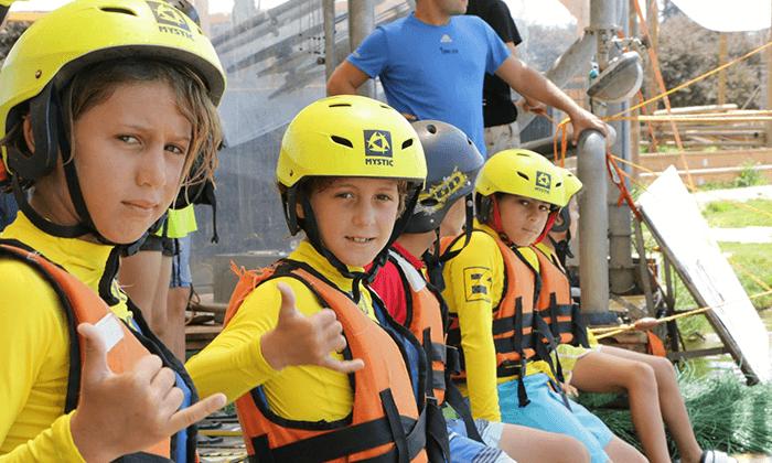 8 סקי מים בפארק דרום בתל אביב