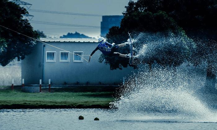 4 סקי מים בפארק דרום בתל אביב