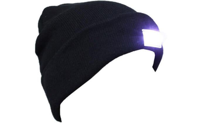 3 כובע גרב משולב פנס ראש