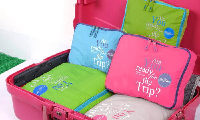 2 סט למזוודה הכולל ארגוניות, משקל ותיק מסמכים