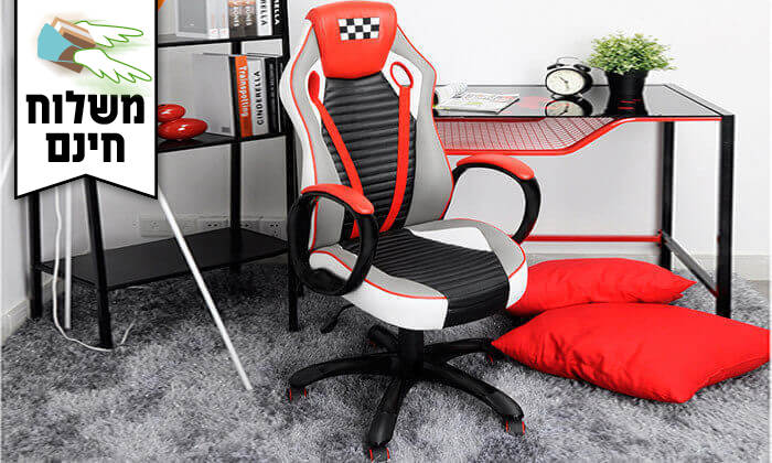 6 כסא בעיצוב מכונית מירוץ - משלוח חינם