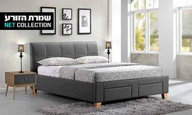מיטה זוגית מרופדת דגם דפנה