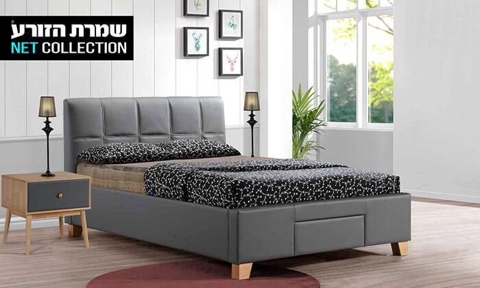 3 שמרת הזורע: מיטה זוגית מרופדת עם מגירת אחסון