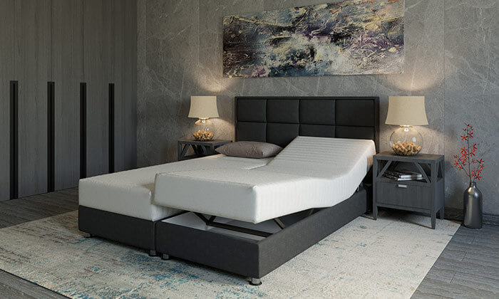 2 מיטה זוגית אורטופדית מתכווננתRAM DESIGN