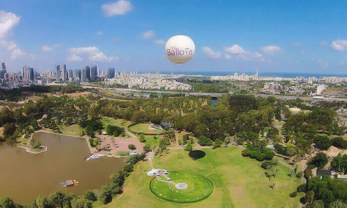 2 טיסה בכדור פורח TLV Balloon, בפארק הירקון