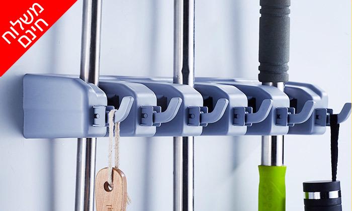 5 מתלה חכם וקומפקטי לתליית כלי ניקוי - צבעים לבחירה ומשלוח חינם