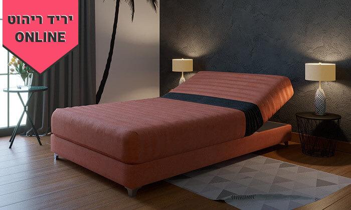 3 מיטה וחצי אורתופדית עם ארגז מצעים - צבעים לבחירה