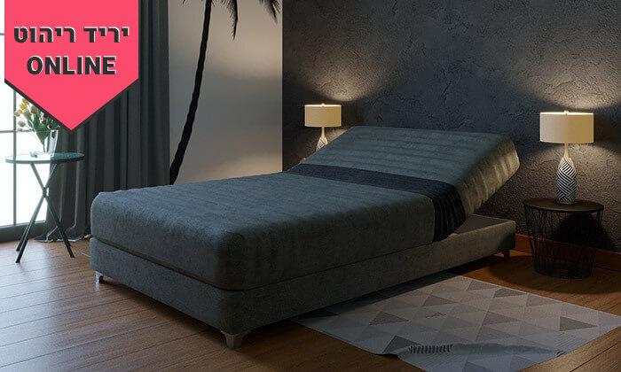 5 מיטה וחצי אורתופדית עם ארגז מצעים - צבעים לבחירה