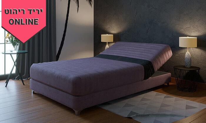 2 מיטה וחצי אורתופדית עם ארגז מצעים - צבעים לבחירה