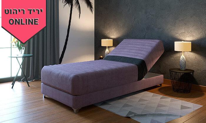 6 מיטת יחיד אורתופדית עם ראש מתכוונן RAM DESIGN, דגם דקס