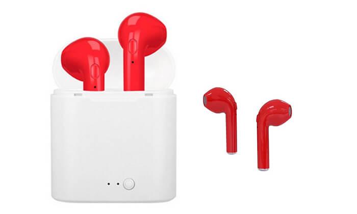 8 אוזניות Bluetooth אלחוטיות - דגמים וצבעים לבחירה