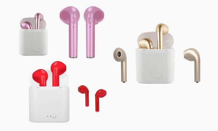 2 אוזניות Bluetooth אלחוטיות - דגמים וצבעים לבחירה