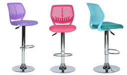 כסא בר עם מושב מרופד