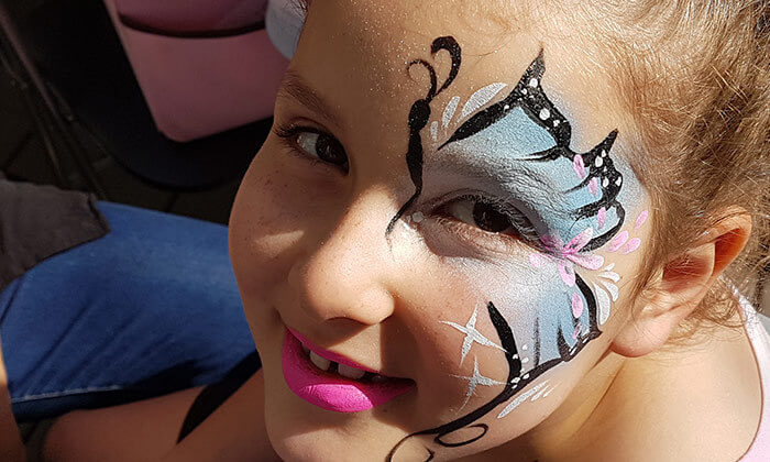 2 סדנת ציורי פנים לפורים ב-Make it up, הוד השרון
