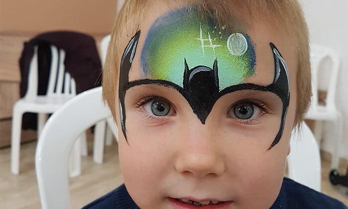 3 סדנת ציורי פנים לפורים ב-Make it up, הוד השרון