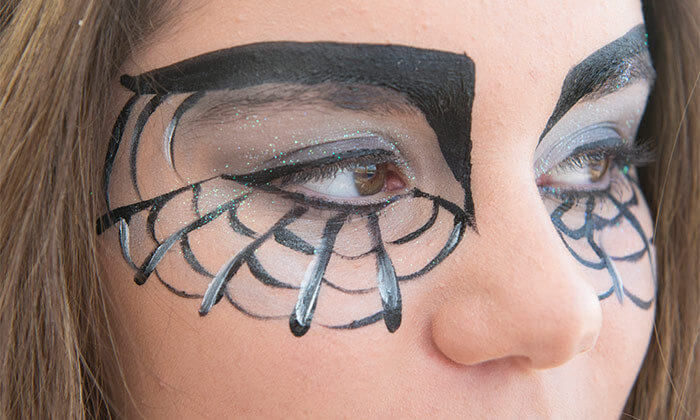 4 סדנת ציורי פנים לפורים ב-Make it up, הוד השרון